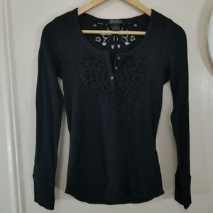 Lucky Brand size S long sleeve top with lace